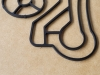 Detal z gumy - wycinanie